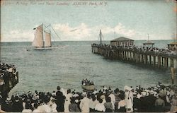 Fishing Pier and Yacht Landing Postcard