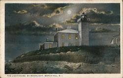 The Lighthouse by Moonlight Postcard
