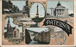 Greetings from Paterson, N.J. Postcard