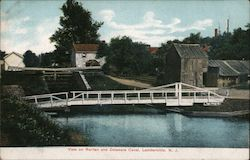 View on Raritan and Delaware Canal Postcard
