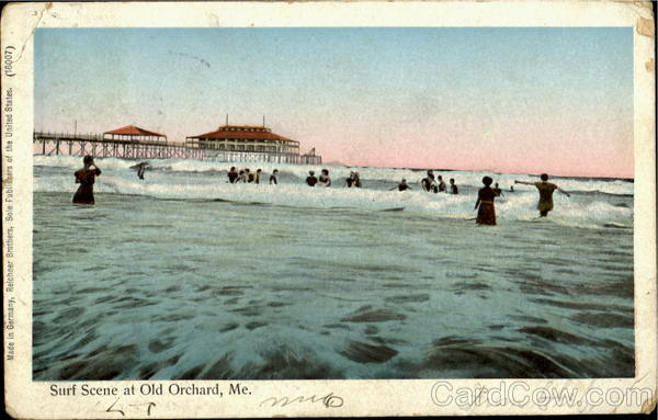 Surf Scene At Old Orchard Maine