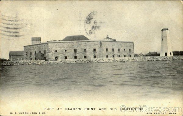 Fort At Clark's Point And Old Light House New Bedford Massachusetts