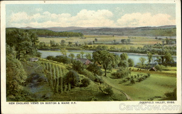 New England Views On Boston & Maine R. R Deerfield Valley Massachusetts