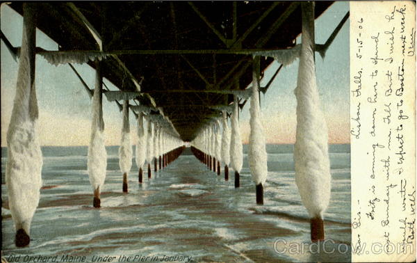 Old Orchard Maine Under The Pier In January