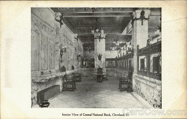 Interior View Of Central National Bank Cleveland Ohio