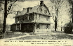 Birthplace Of Benj. West, Campus Swarthmore College