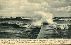 A Stormy Day On Lake Erie Postcard