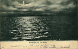 Moonlight On The Lake Postcard