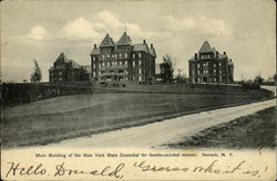 Main Building Of The New York State Custodial For Feeble Minded Women Postcard