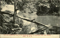 The Old Swimming Pool In The Cuyahoga River, Cuyahoga Falls