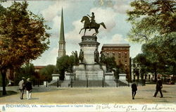 Washington Monument In Capitol Square Postcard