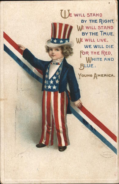 Young America Ellen Clapsaddle Patriotic