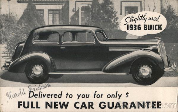 Slightly Used 1936 Buick Cars