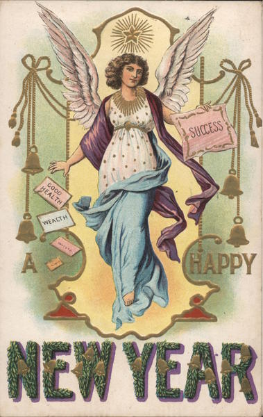 Happy New Year - Angel, Success, Good Health Angels & Cherubs