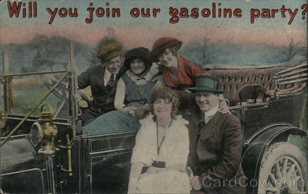 Will you join our gasoline party? Men