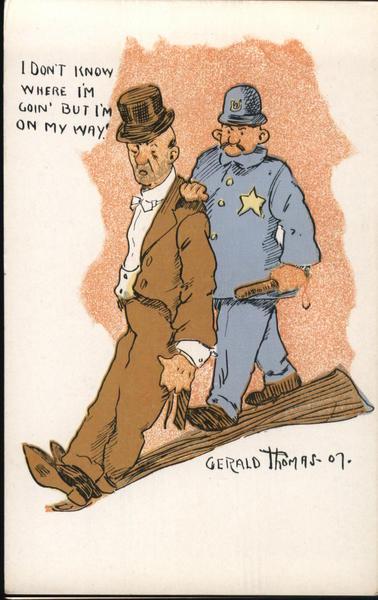 Police Arresting a Drunk Man Gerald Thomas