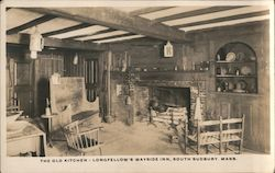 The Old Kitchen - Longfellow's Wayside Inn Postcard