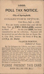 Poll Tax Notice Postcard