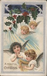 A Peaceful Christmas Angels and Mistletoe