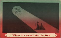 When it's moonlight, darling Postcard