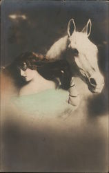 Fantasy Woman and White Horse