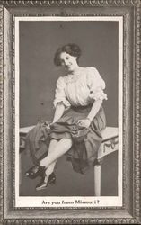 Woman Sitting on a Table
