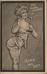 Ring Me Up! - A Woman Holding a Telephone
