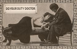 Do your duty doctor Postcard