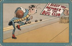 I elect you member of the bug club Postcard