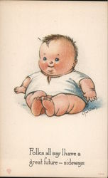 Fat Baby Postcard