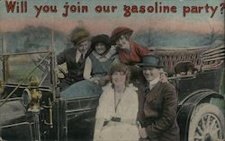 Will you join our gasoline party? Postcard