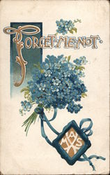 Forget-Me-Not Flower Bouquet Postcard