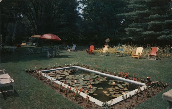 Garden and Pool at Rear of William Cullen Bryant House Great Barrington Massachusetts
