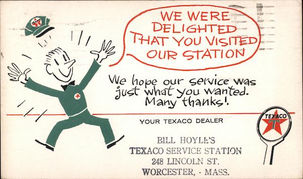 We Were Delighted That You Visited Our Station - Your Texaco Dealer Worcester Massachusetts