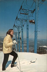 Triple Chair Lift, Camelback Postcard