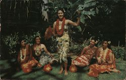 Hula Maids in Tropic Setting