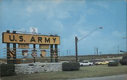 Main Gate, Fort Hood Postcard