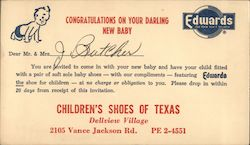 Congratulations On Your Darling New Baby Postcard