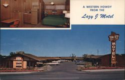 A Western Howdy from the Lazy J Motel Postcard