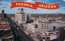 Greetings from Phoenix, Arizona - View of North Central Avenue