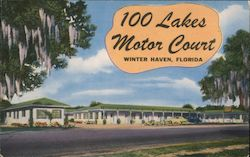 100 Lakes Motor Court Postcard