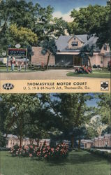 Thomasville Motor Court - One of the South's Larger & Better Courts Postcard