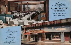 Major's Cabin Restaurant Postcard