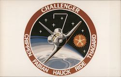 Challenger Mission Insignia Postcard