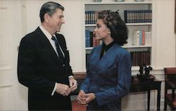 President Reagan meets with Miss America Vanessa Williams