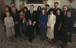 President and Mrs. Reagan with family members