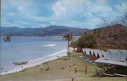 The Flamboyant Beach Bars and Cabanas Postcard