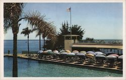 Pool and Dining Terrace at The Coral Casino Beach and Cabana Club Postcard