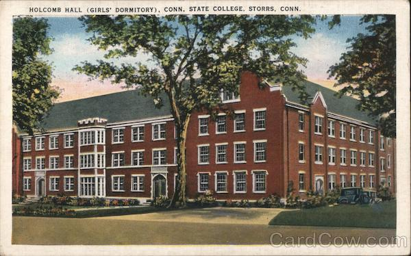 Holcomb Hall (Girls' Dormitory), Conn. State College, Storrs, Conn Connecticut