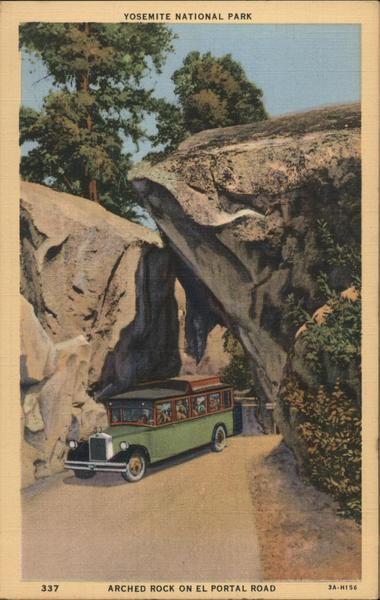 Yosemite National Park. Arched Rock on El Portal Road